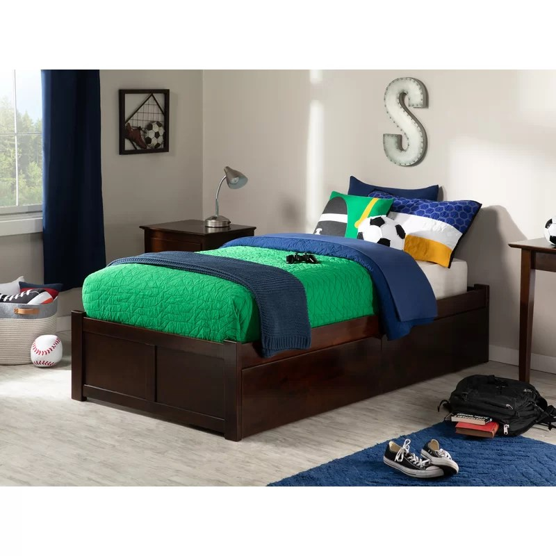 bolick extra long twin platform bed with drawers