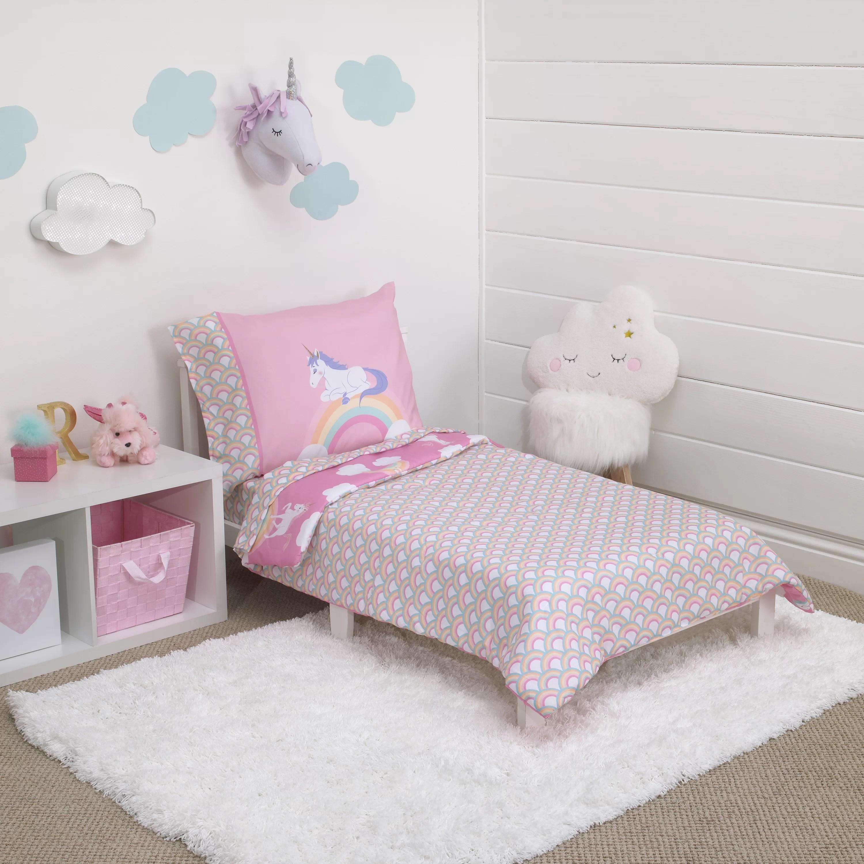 Little Tikes Rainbow Unicorn 4 Piece Toddler Bedding Set Reviews Wayfair