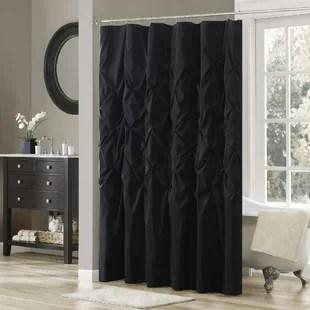 benjamin solid color single shower curtain