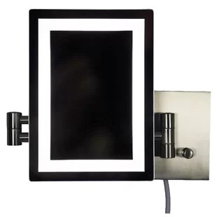 Transitional Brass Wall Mount Magnifying Shaving Mirror