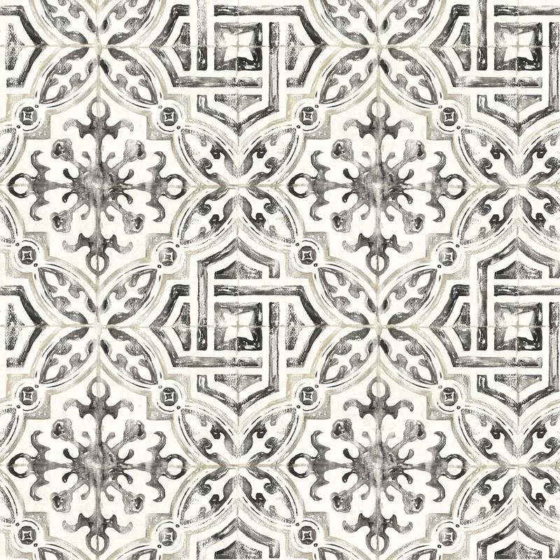 sonoma charcoal spanish tile wallpaper