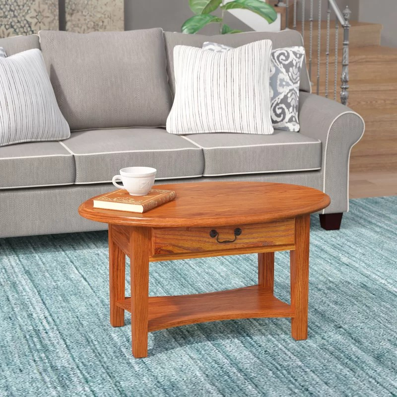 Wilfredo Solid Wood Coffee Table with Storage