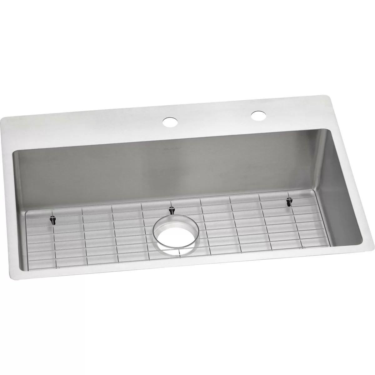 crosstown stainless steel 33 l x 22 w double basin dual mount kitchen sink