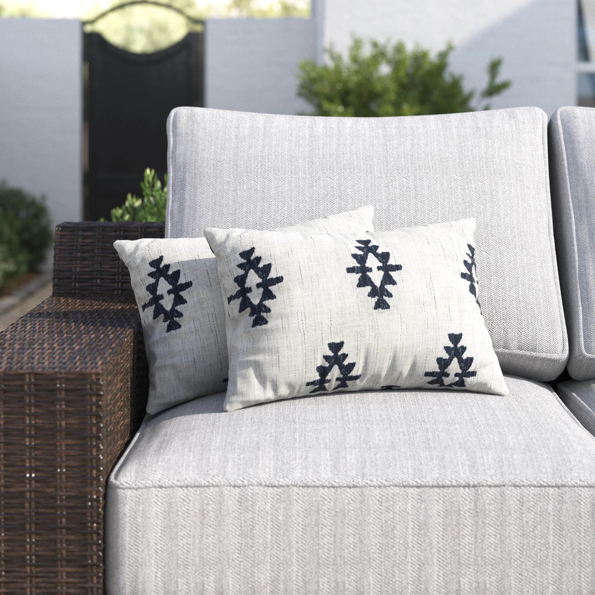 shah indoor outdoor lumbar pillow cover insert