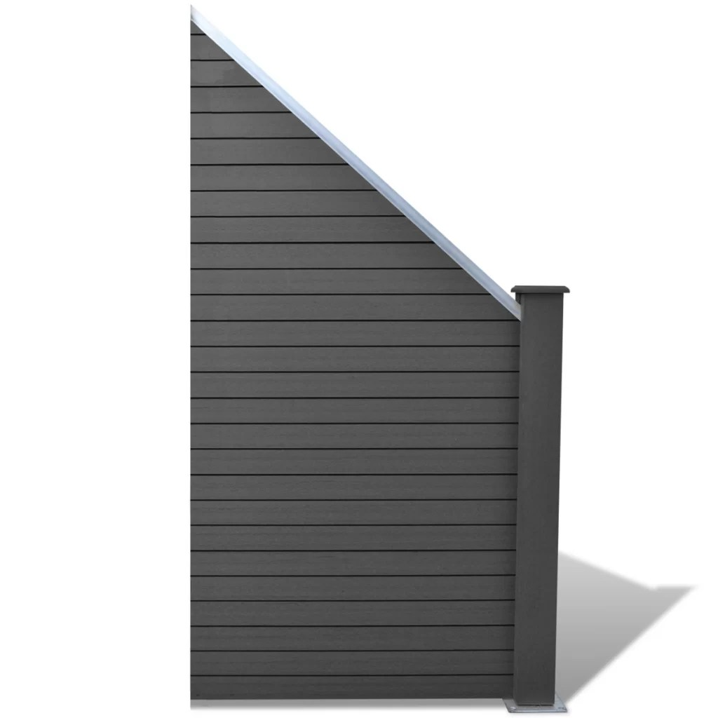 Flat Cap For Composite Fence Post Of Plastic Eco Fencing Panels Graphite Railings Pickets Home Garden Store