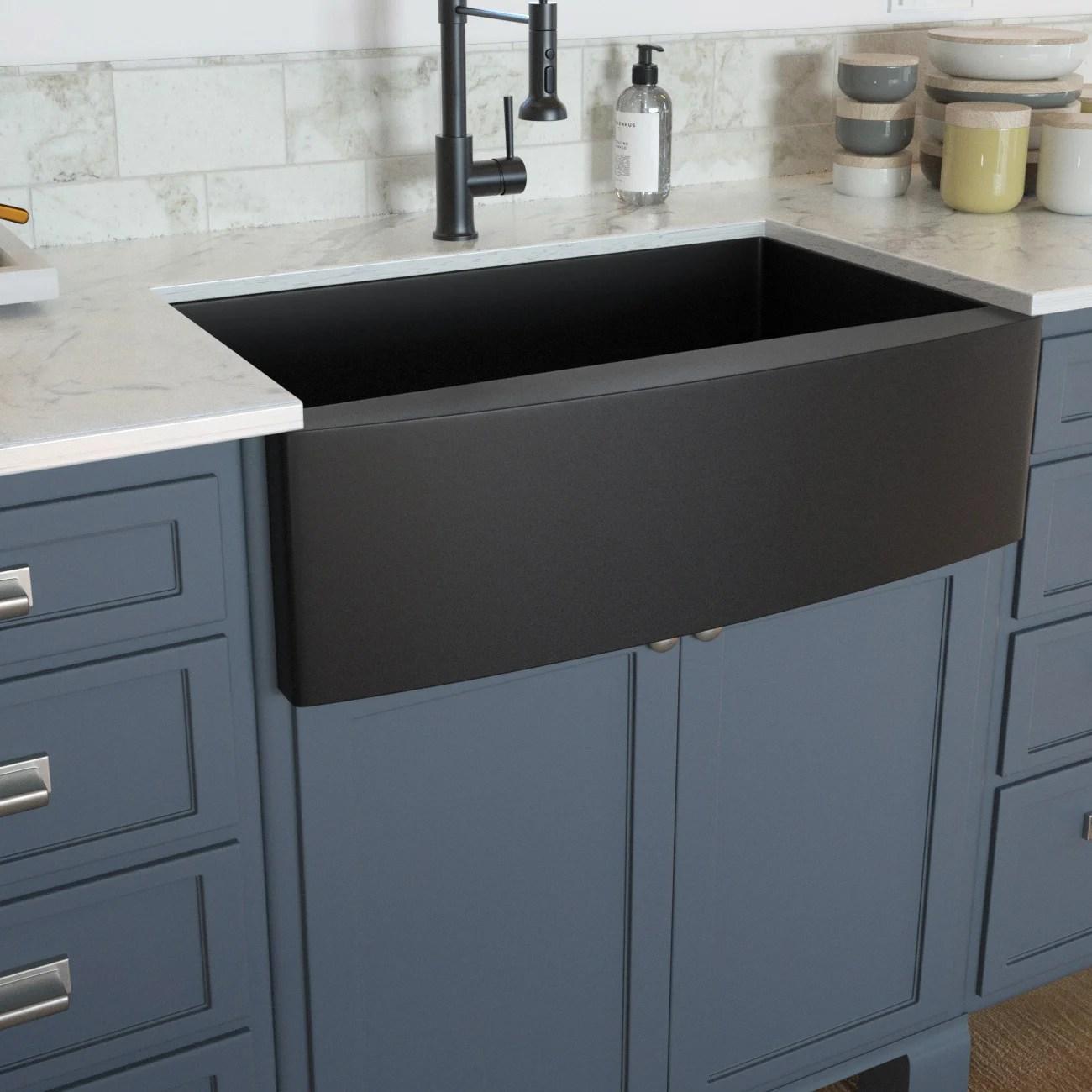 30 inch farmhouse kitchen sink gunmetal black apron front 16 gauge stainless steel deep single bowl kitchen farm sinks