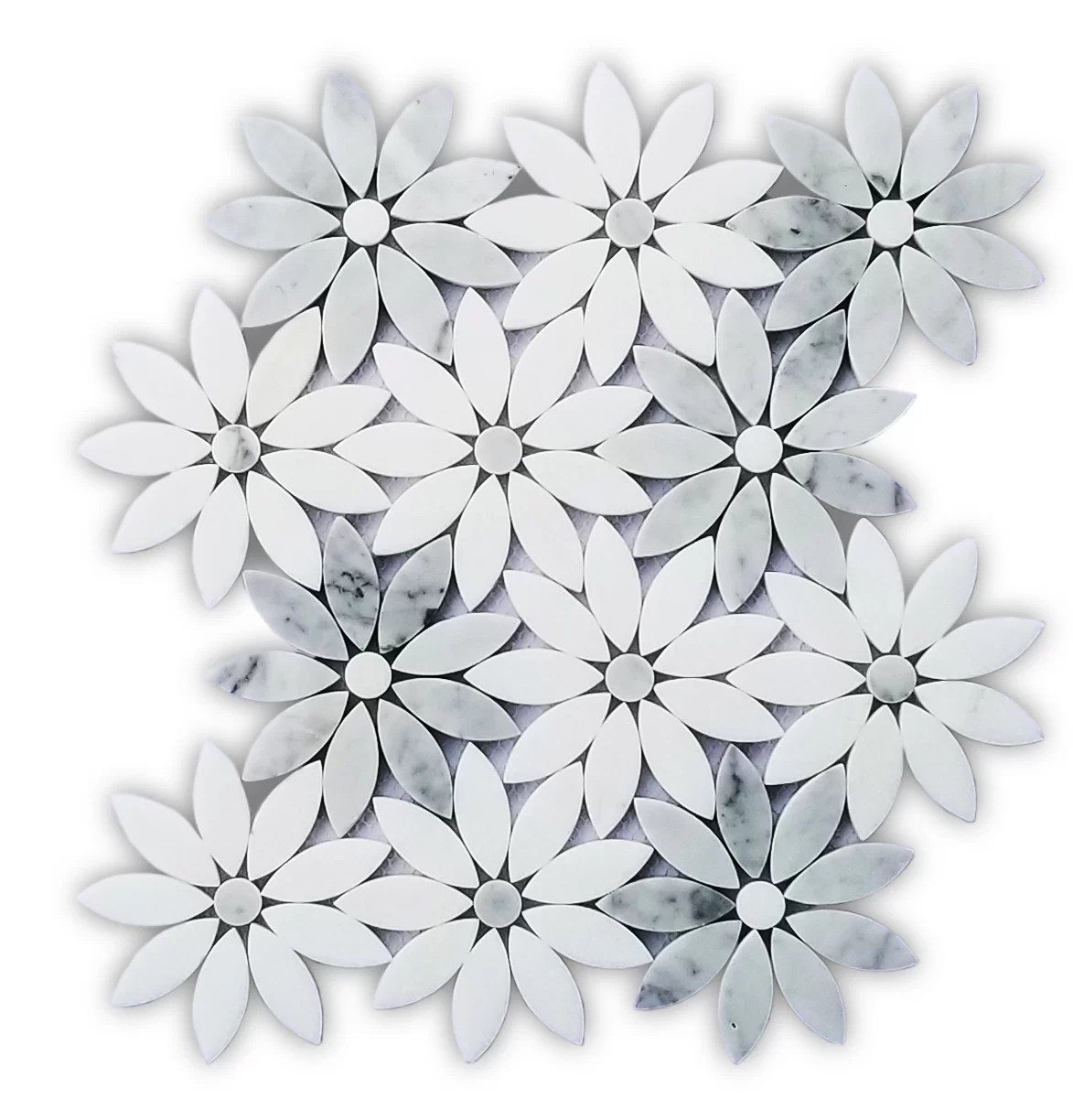 lily 10 x 12 marble mosaic tile