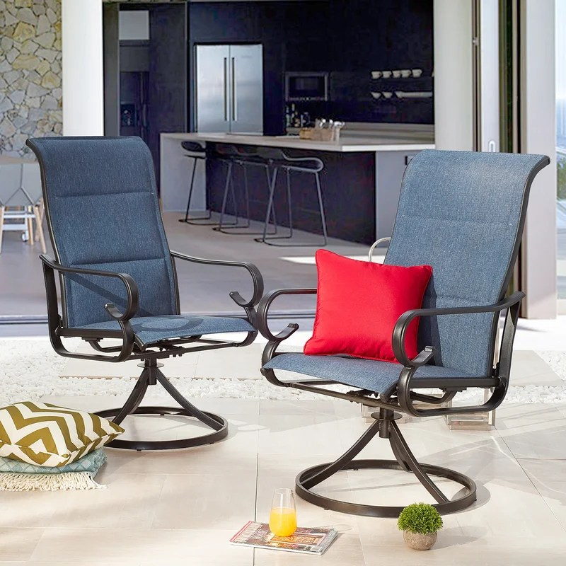romary with all weather frame swivel patio chair
