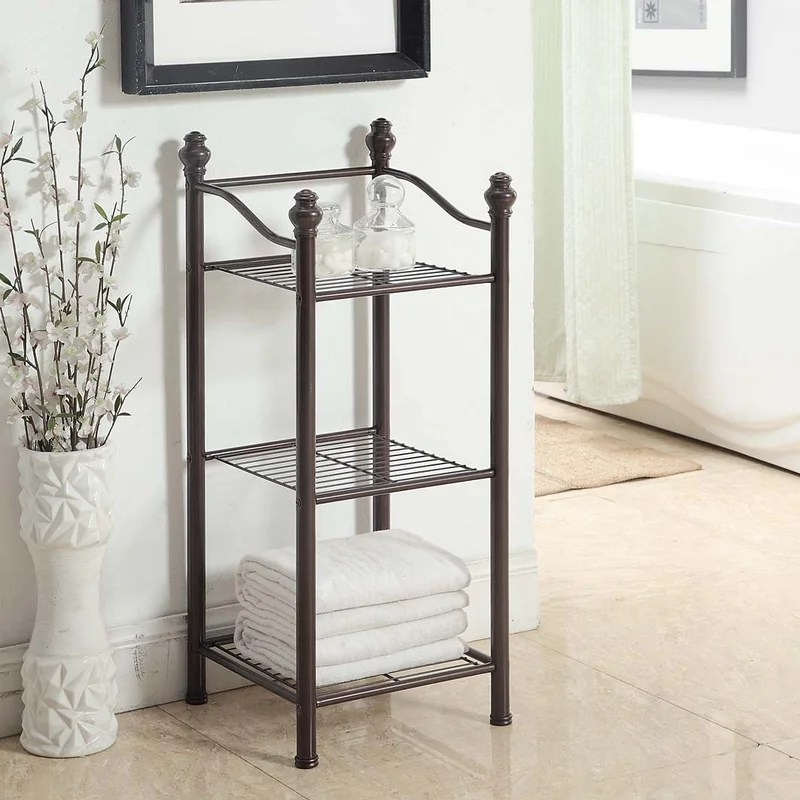 free standing bathroom shelving you'll love | wayfair