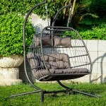 2 Person Double Swing Hammock Wicker Chair With Stand Joss Main