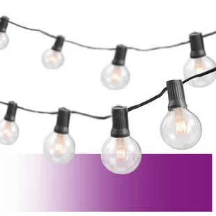 25 outdoor 25 bulb globe string light end to end connectable