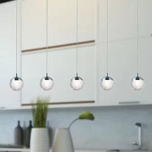 kitchen island led integrated pendant