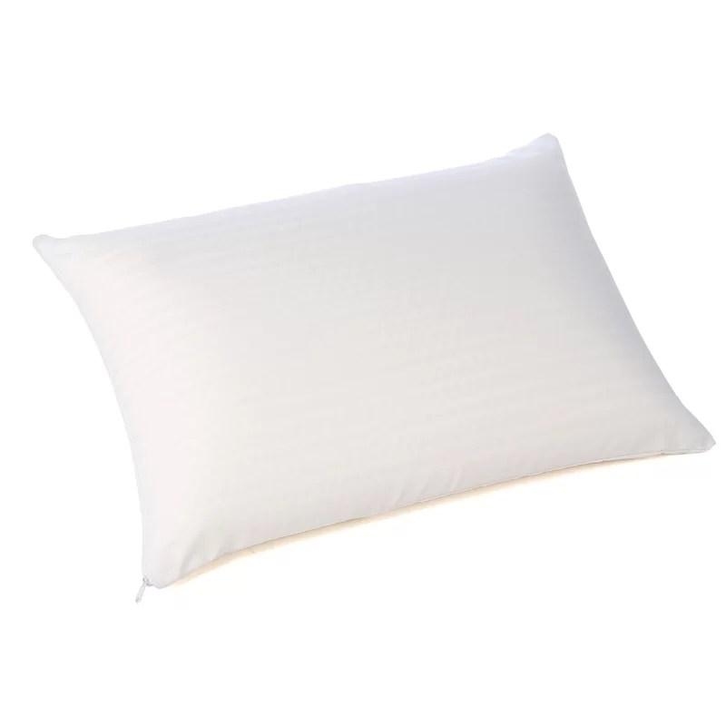 simmons beautyrest latex foam pillow