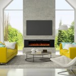 Latitude Run Millner Recessed Wall Mounted Electric Fireplace Reviews Wayfair