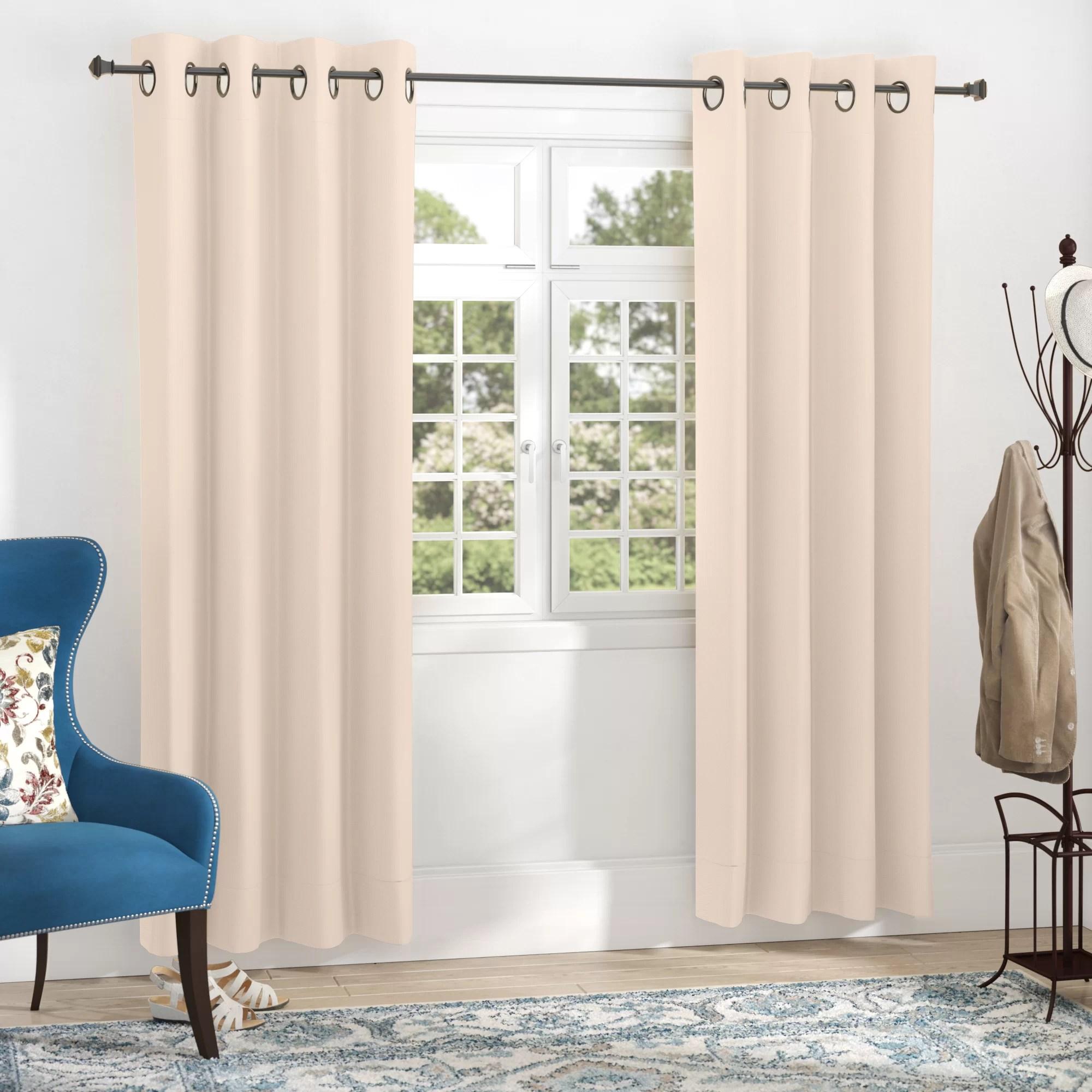 schaeffer solid blackout thermal grommet curtain panels