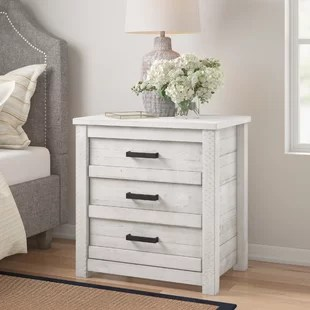 romney 3 drawers nightstand