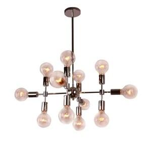 Modern Metal Geometric 12 Light Sputnik Chandelier