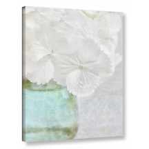 'White Hydrangea' Photographic Print on Wrapped Canvas