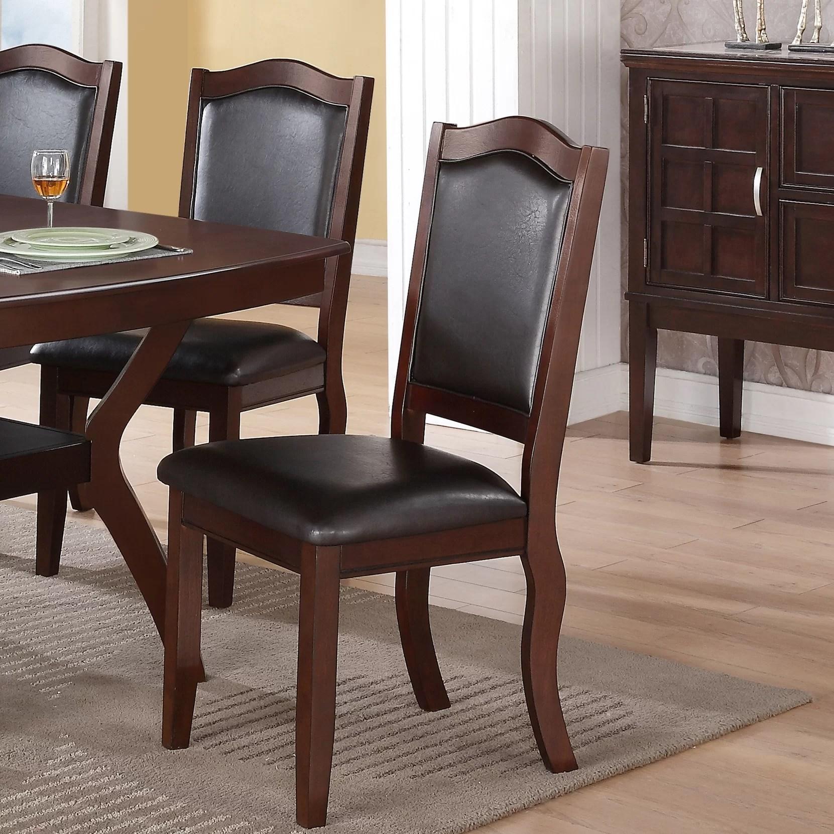 winston porter wegman upholstered side dining chair in dark brown reviews wayfair