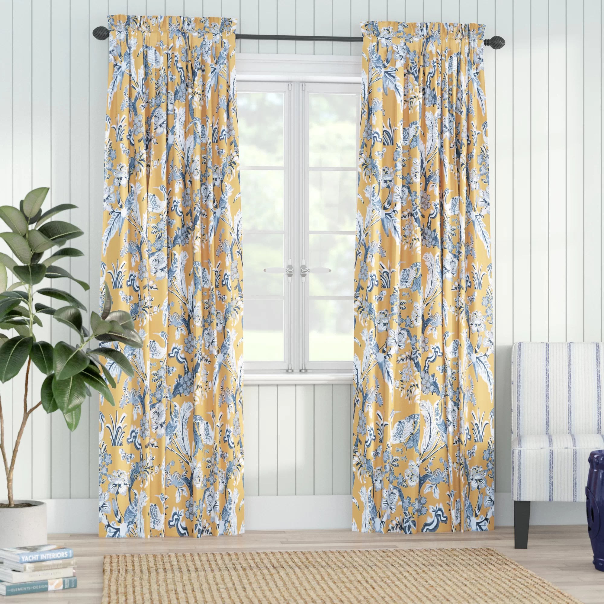 panagia floral room darkening thermal rod pocket curtain panels