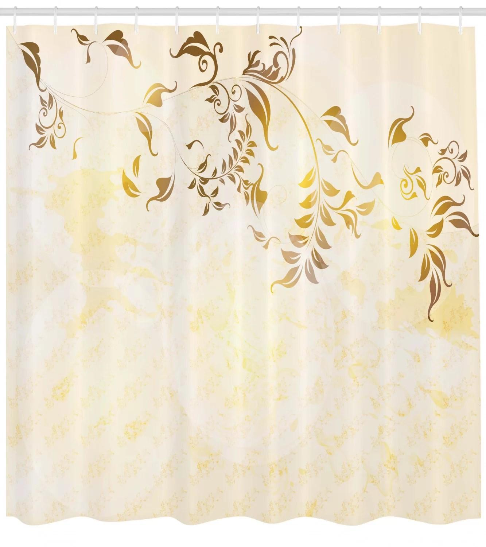 elegant vintage ornament shower curtain set