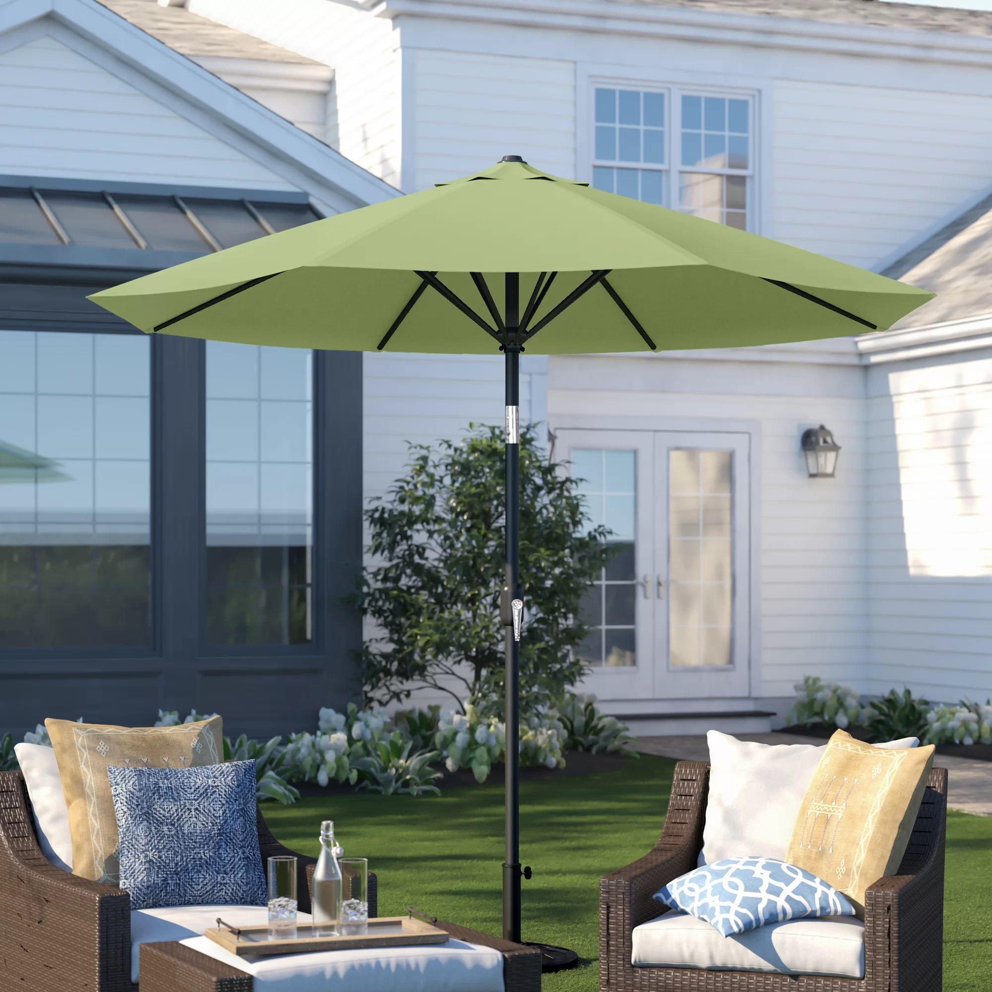 metal patio umbrellas you ll love in
