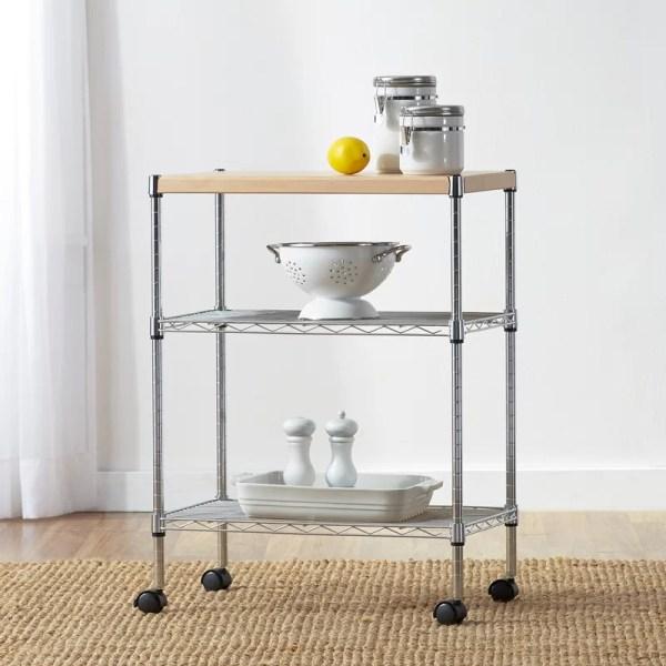 Wayfair Basics Adjustable Kitchen Cart