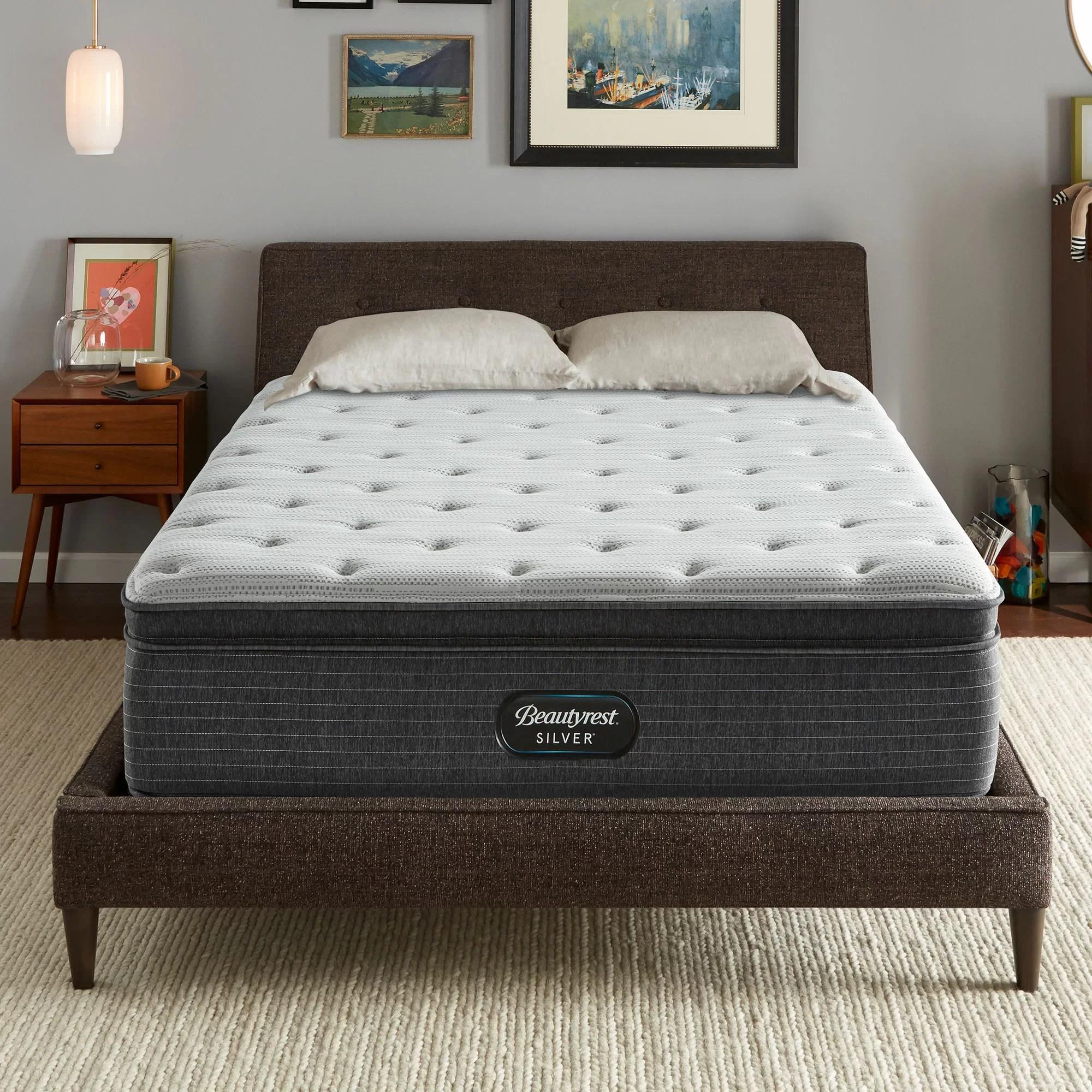 beautyrest silver 16 plush pillow top mattress