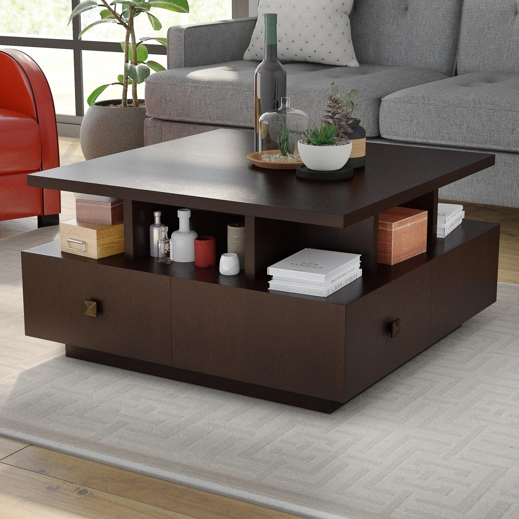 drawers square coffee tables you ll