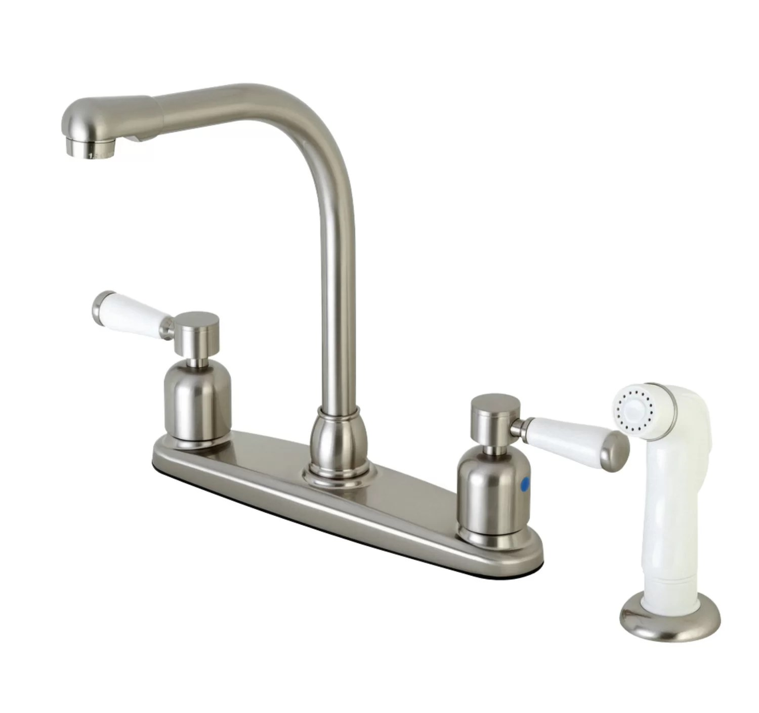 paris hot cold water dispenser double handle kitchen faucet with side spray