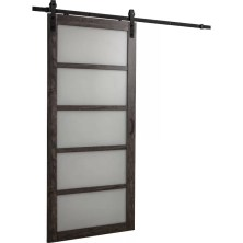 Manufactured Wood Paneled Barn Door with Hardware