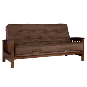 Zurich Wood Arm Futon With Mattress