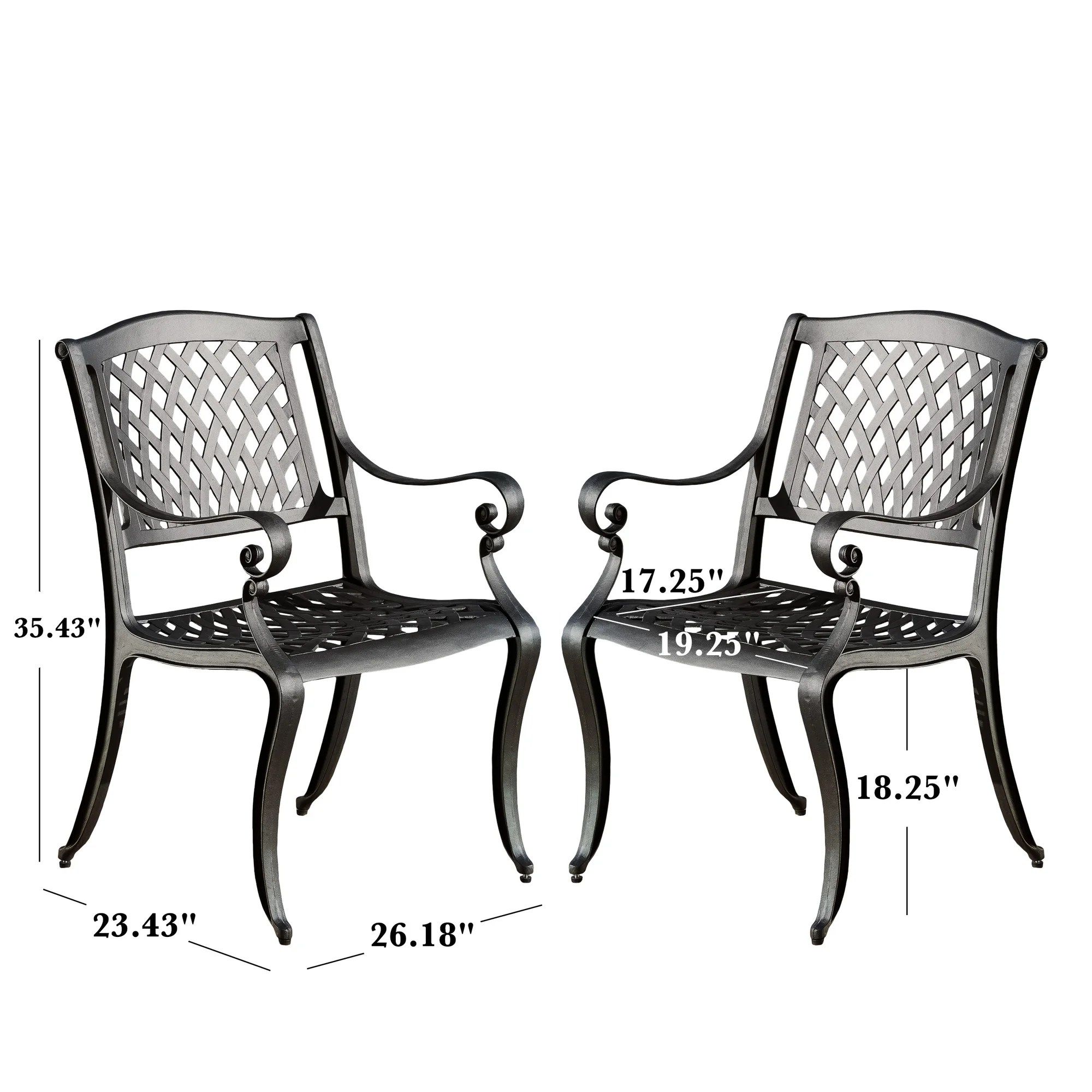 Darby Home Co Grimm Cast Aluminum Dining Arm Chair