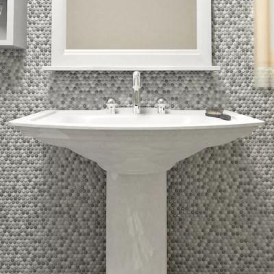 Elitetile Astraea    Porcelain Mosaic Tile In Gray White Reviews Wayfair
