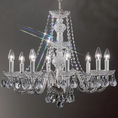 Classic Lighting Monticello 8 Light Crystal Chandelier Reviews Wayfair