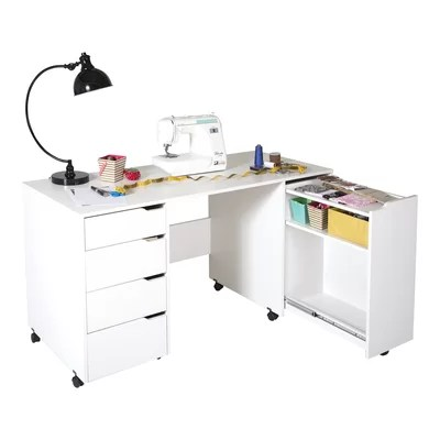 "South Shore Crea 58.13"" W x 23.63"" D Sewing Table"