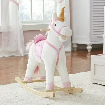 White Unicorn rocking horse