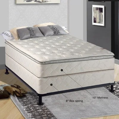 Spinal Solution Orthopedic 10 Firm Innerspring Mattress With Box Spring Reviews Wayfair