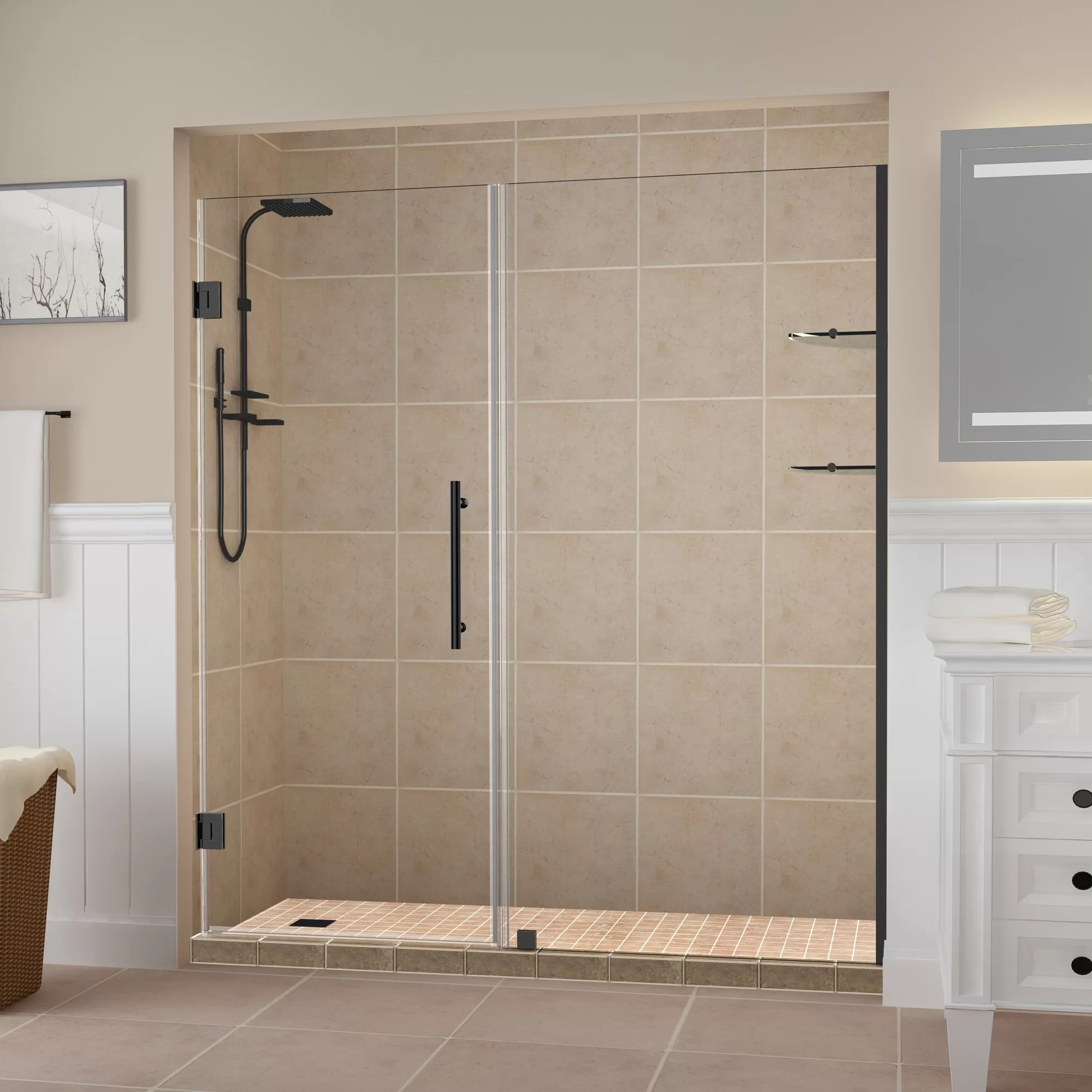 Details About Aston Belmore Gs 40 25 X 72 Hinged Frameless Shower Door Oil Rubbed Bronze