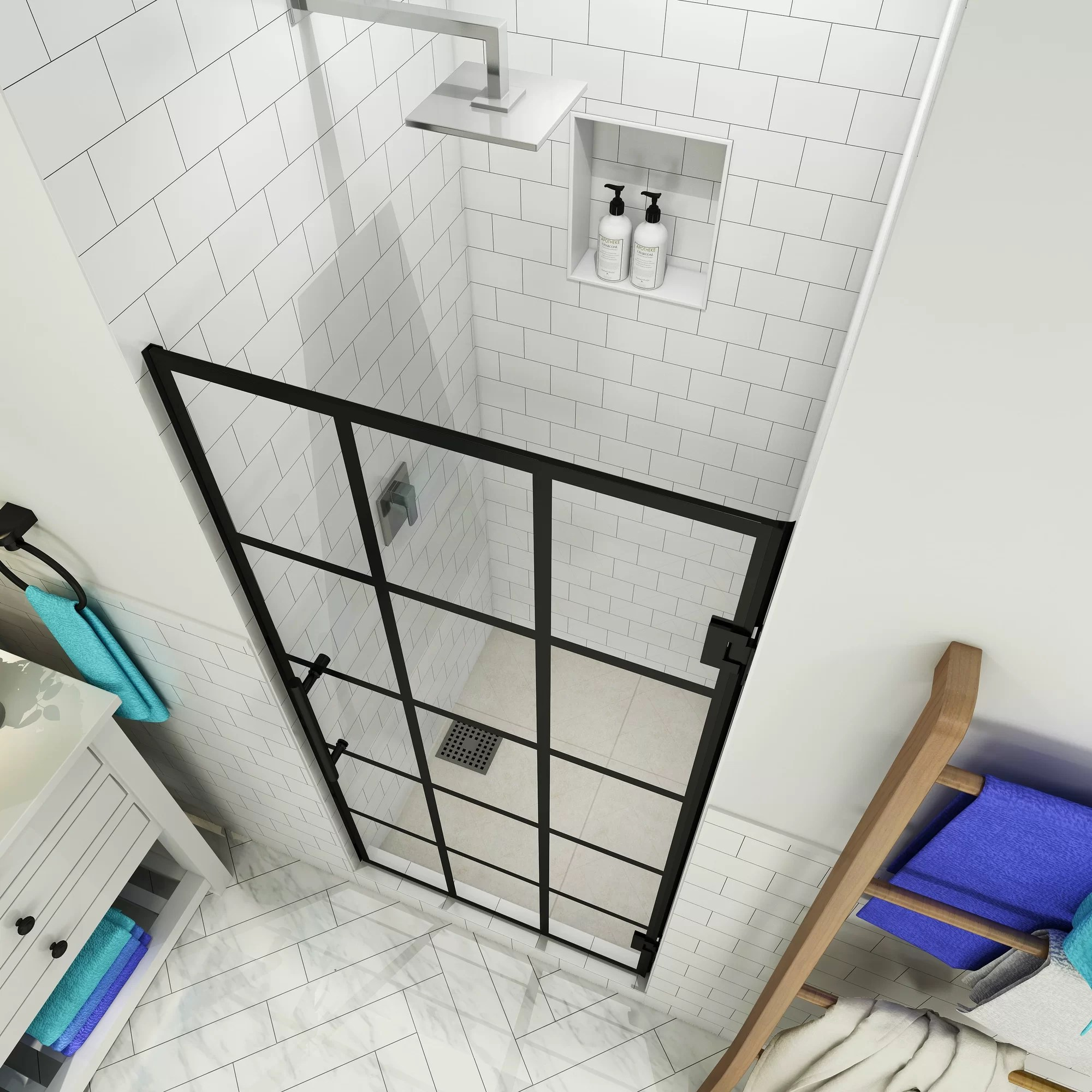 Details About Aston French Mayenne 24 X 72 Hinged Frameless Shower Door