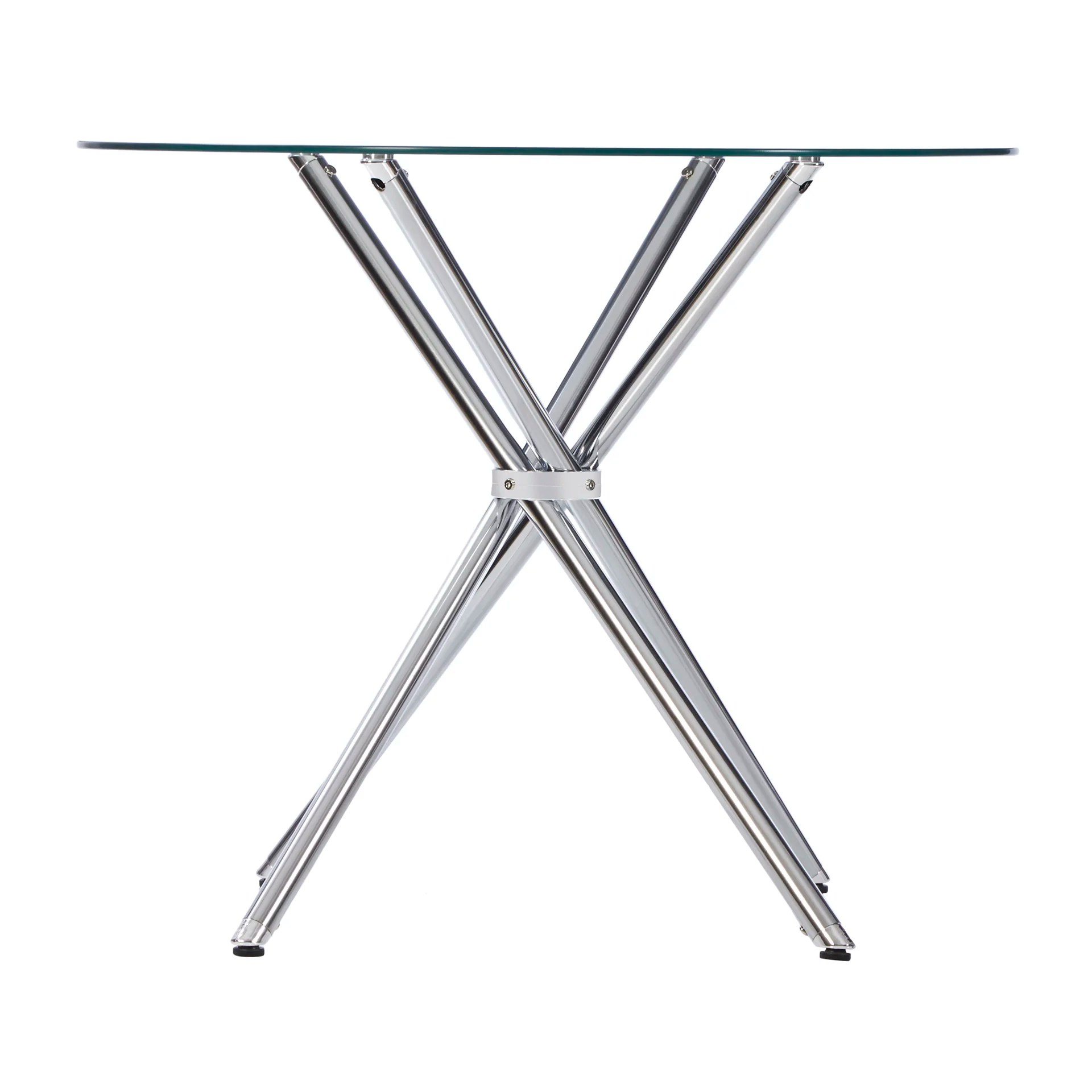 Zipcode Design Vince Glass Round Dining Table Amp Reviews