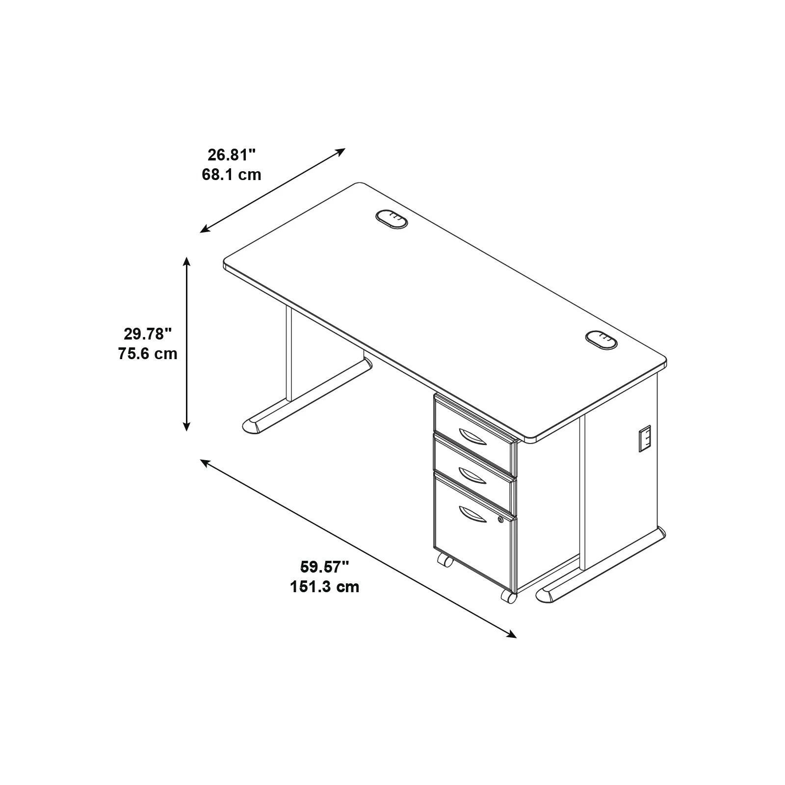 Bush Business Furniture Series A 3 Drawer File Computer