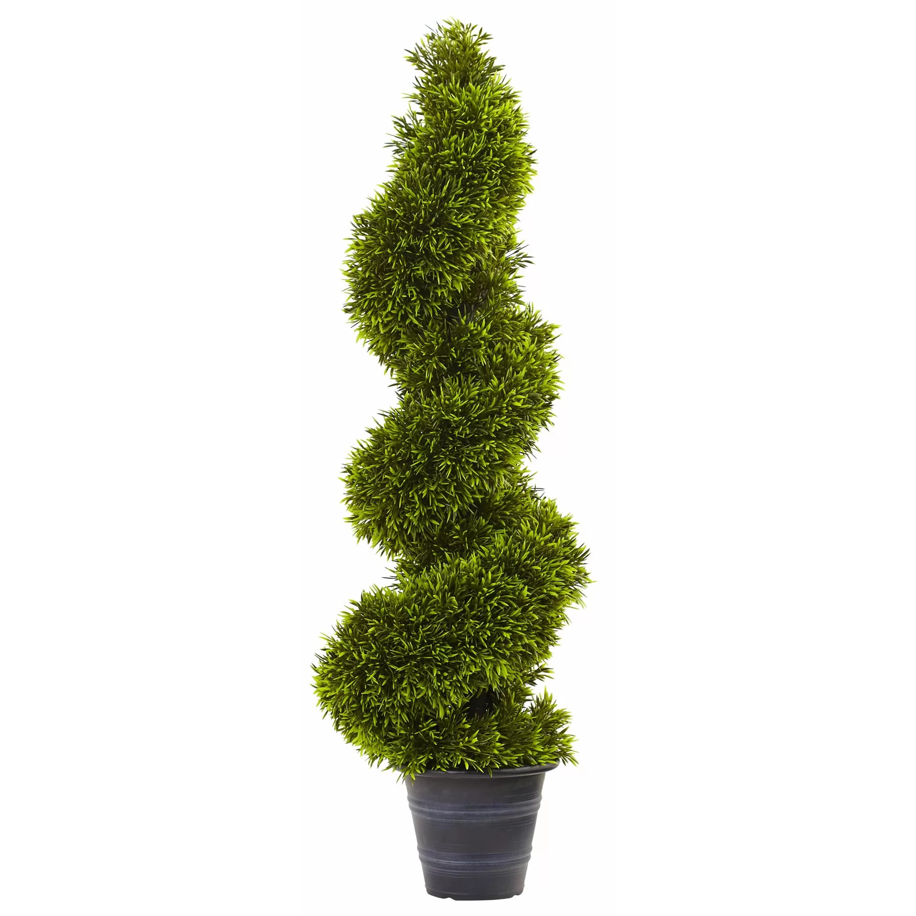 Nearly Natural Grass Spiral Round Tapered Topiary In
