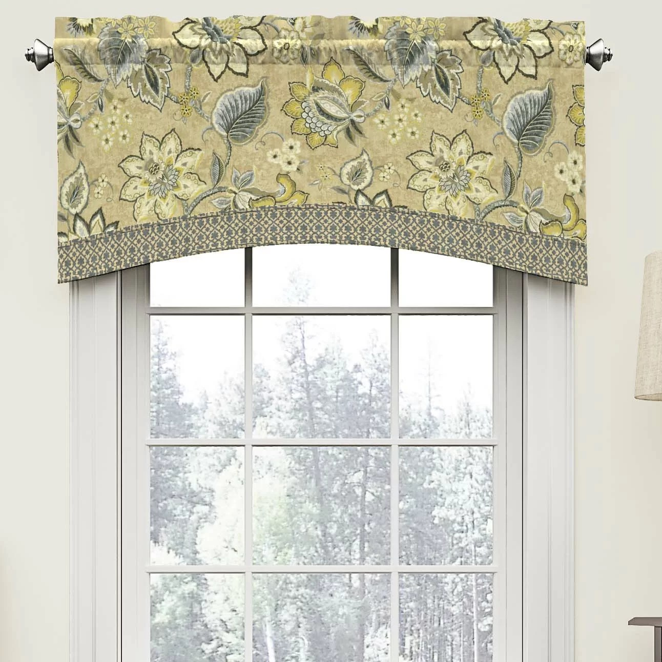 Waverly Brighton Blossom 52 Arched Curtain Valance