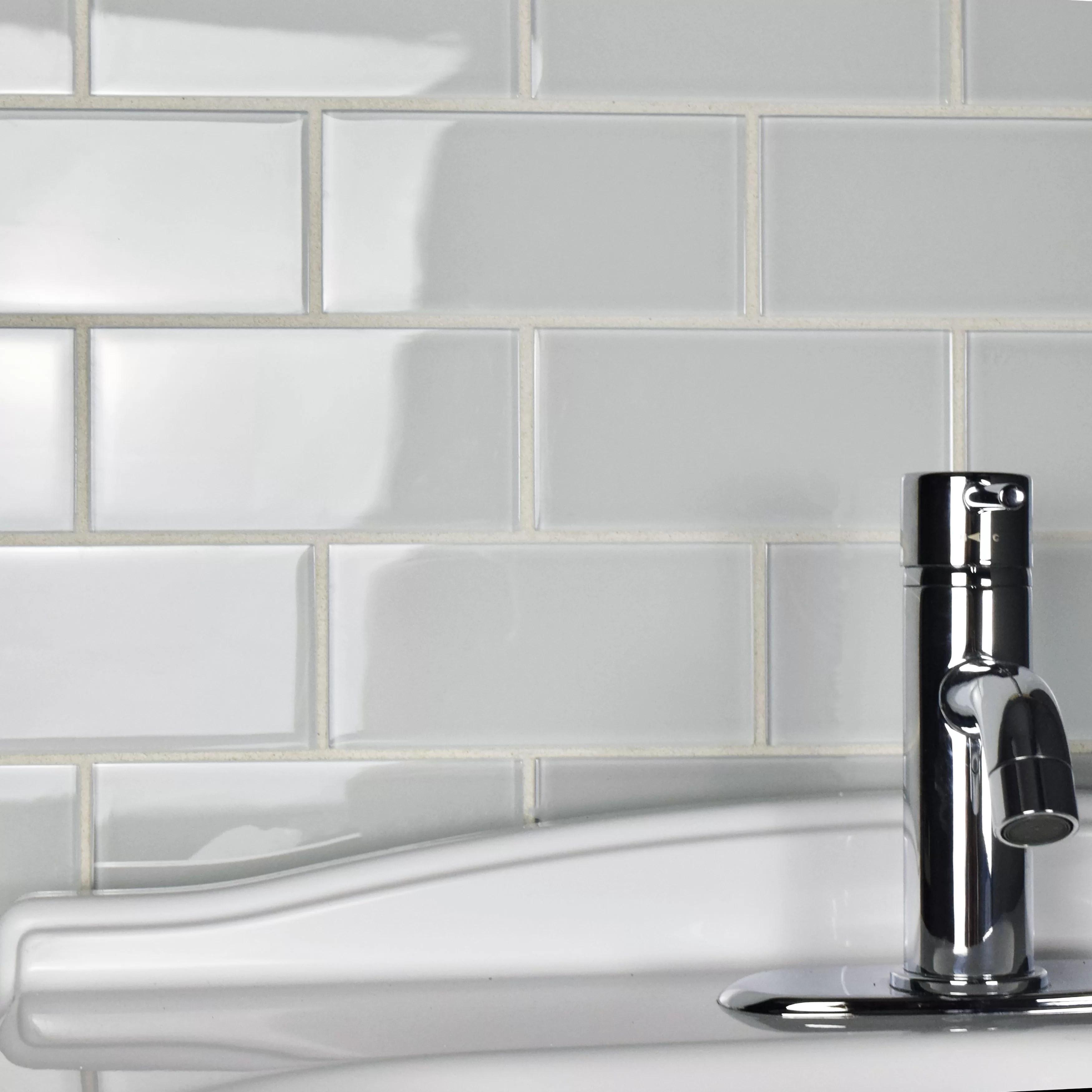 title | White Glass Subway Tile