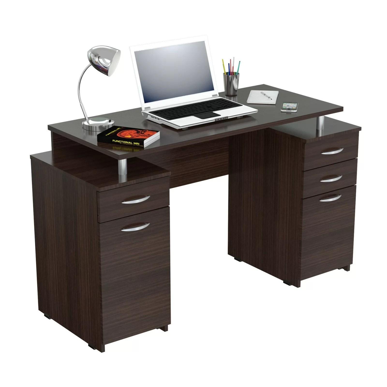 Inval Double Pedestal Computer Desk Amp Reviews