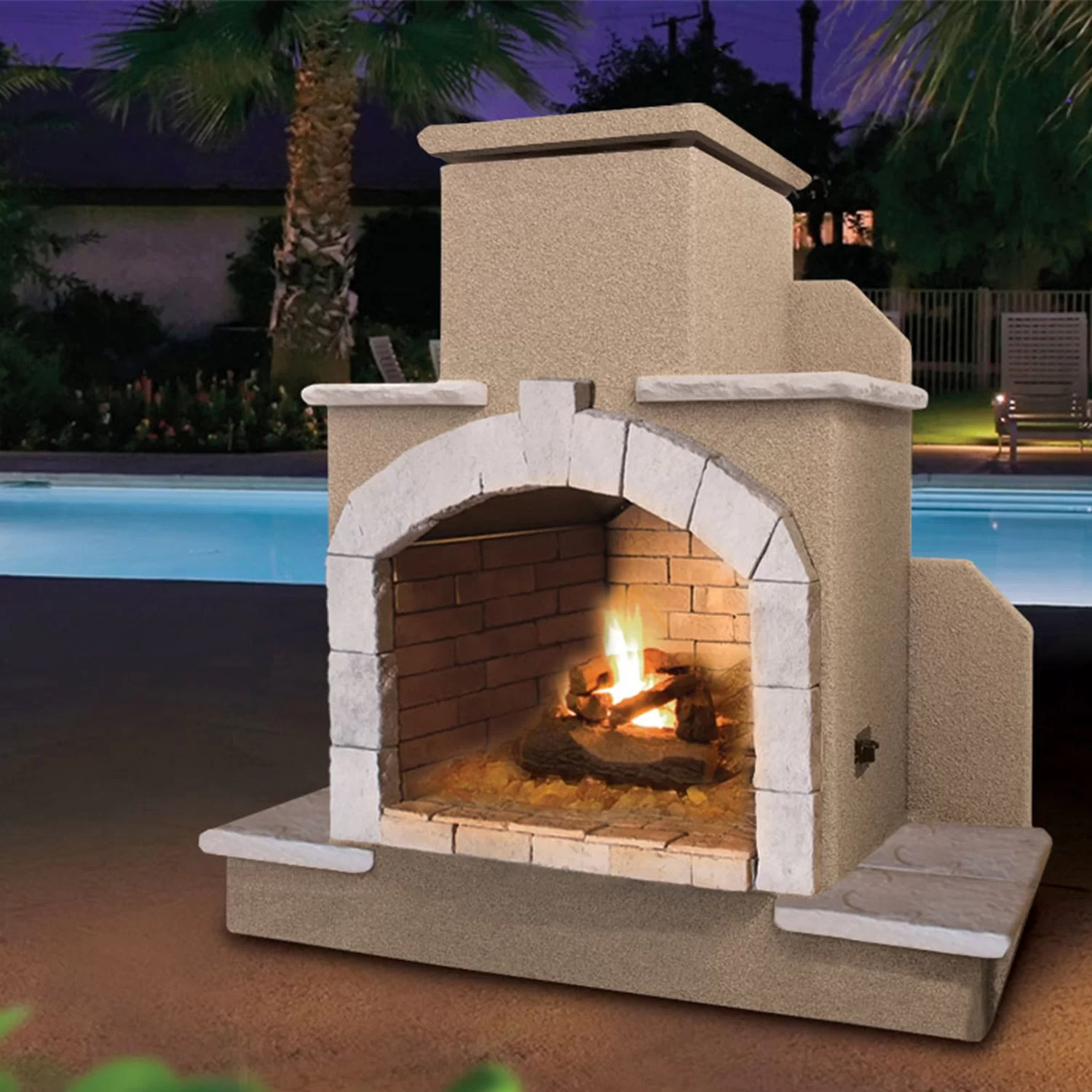 Calflame Propane Gas Outdoor Fireplace