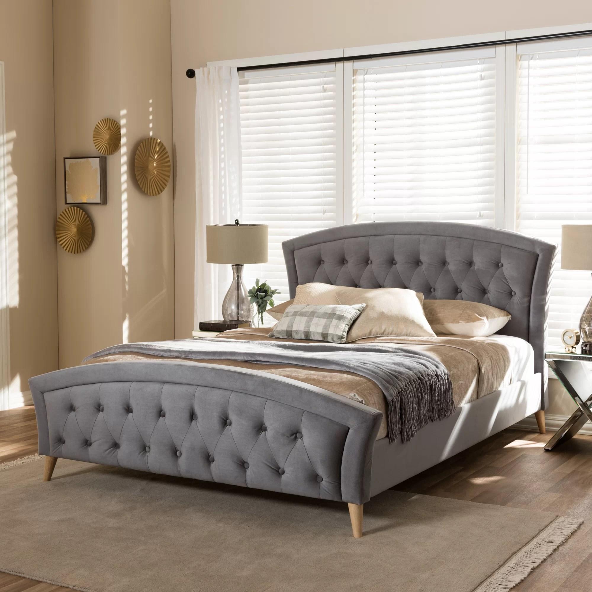 Wholesale Interiors Baxton Studio Upholstered Platform Bed