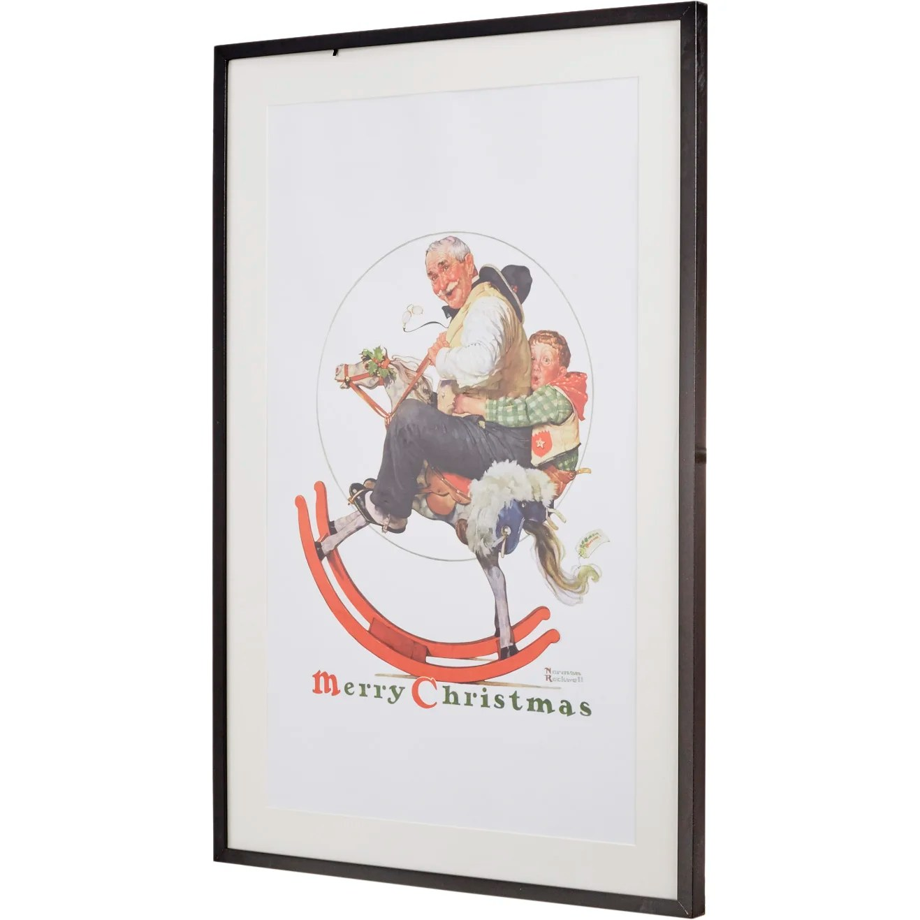 Christmas Print Norman Rockwell Rocking Horse