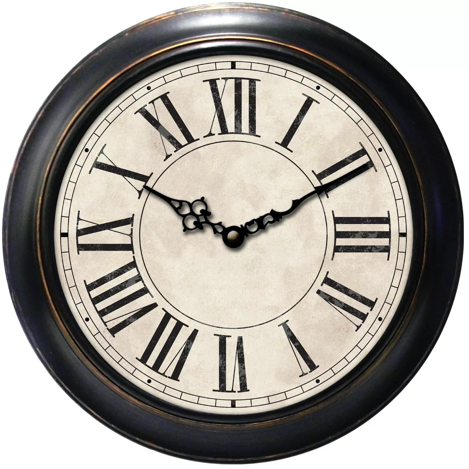 Three Posts Decorative Home 18 Classic Roman Numeral Wall Clock Amp Reviews